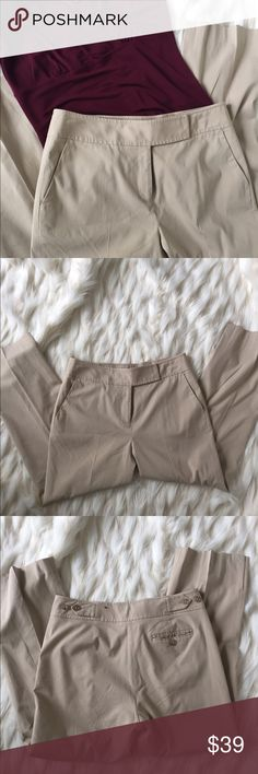 """🌷 Ann Taylor tan cropped ankle pant 🌷 Beautiful tan cropped ankle pant from Ann Taylor is fully lined. Front hip pockets and one rear pocket, straight leg. Extended tab closure with zip fly and hidden button. Size 2. Soft and comfortable. Waist measures 15"""", hip 17"""", length 26"""". Excellent condition. Ann Taylor Pants Ankle & Cropped"""
