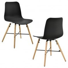 Sedia design in un set di 2 - 85,5 x 46cm 74,00 € Danish Modern, Eames, Modern Design, Chair, Furniture, Home Decor, Ebay, Black Dining Chairs, Retro Design