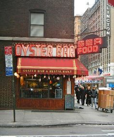 Famous Oyster Bar sign New York City
