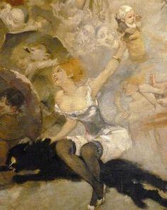 """""""'Parce Domine'...decoration for the cabaret 'Le Chat Noir (Detail) by Willette, Adolphe-Léon"""