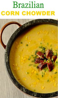 Quick Corn Chowder that has no flour. It makes an easy and delish dinner meal for your summer. Dinner Recipes Easy Quick, Healthy Soup Recipes, Vegetarian Recipes, Delicious Recipes, Easy Cooking, Cooking Recipes, Sans Gluten, Gluten Free, Corn Chowder