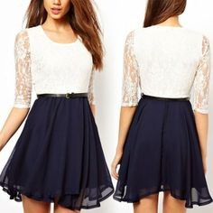 I found 'Sexy Vintage-Inspired Chiffon Lace Party Dress' on Wish, check it out!