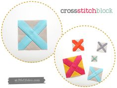 How to make a modern cross stitch block in several sizes