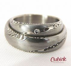 Your place to buy and sell all things handmade Damascus Ring, Damascus Steel, Modern Materials, Unique Rings, Metal Working, Garnet, Sapphire, Rings For Men, Wedding Rings