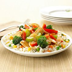 Simple Chicken Stir-Fry -- Uses only 5 ingredients and takes only 25 minutes to make!