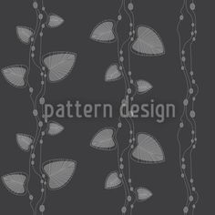 Underwater Dark by Dorothee Schaller available for download on patterndesigns.com Plant Vector, Vector Pattern, Vector File, Surface Design, Underwater, Leaves, Fantasy, Patterns, Dark