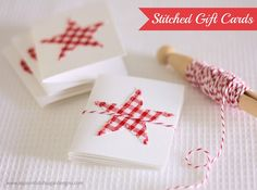 Stitched Gift Cards | A Spoonful of Sugar