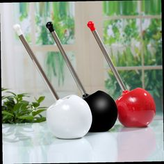 46.53$  Buy now - http://ali0yb.worldwells.pw/go.php?t=32429142195 - Ceramics Ball Shape Bathroom Cleaning Toilet Brush Holder Bathroom Accessory Random color 46.53$