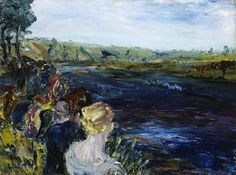 """""""Jack Butler Yeats (Irish, The Islandbridge Regatta, Oil on canvas, 46 x 61 cm. The Nåtional Gallery of Ireland. Irish Painters, Jack B, Irish Art, Dublin Ireland, Contemporary Paintings, Art Google, Landscape Art, Butler, Oil On Canvas"""