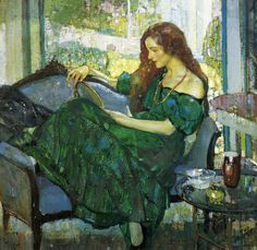 "Richard Edward Miller : Miss ""V"" in Green"