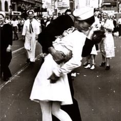 """""""War's End Kiss."""" This will always be one of my absolute favorite pictures, taken in one of my absolute favorite eras. <3"""