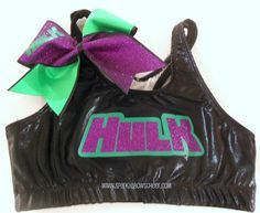 Hey, I found this really awesome Etsy listing at http://www.etsy.com/listing/153274957/hulkster-metallic-sports-bra-and-bow-set