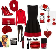 """""""Black and Red Dress"""" by nkurtz on Polyvore"""