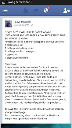 Jewelry cleaner DIY