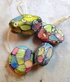 Hey, I found this really awesome Etsy listing at https://www.etsy.com/listing/192550865/4-colorful-artisan-statement-beads
