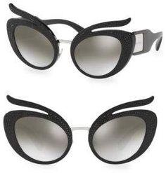 Miu Miu Injected Woman's 53MM Cat Eye Sunglasses