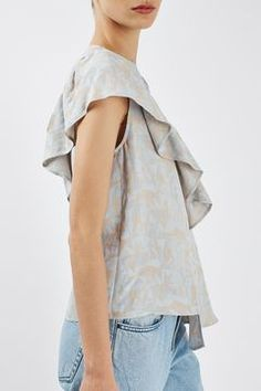 Jacquard Ruffle Top by Boutique