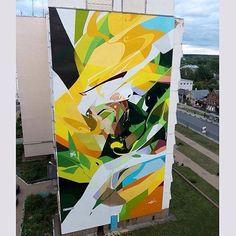 """Nature""  Zmogk! - ""@artovragfestru"" Vyksa Russia.  Support by @artmossphere  #zmogk #artovragfestru #vyksa #russia #graffiti #streetart #urbanart #elgraffiti #art #mural @zmogk by elgraffiti"