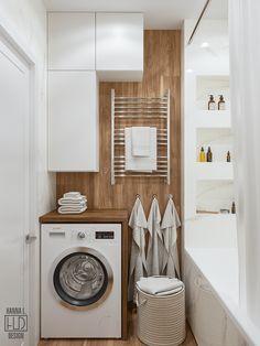 Small Bathroom Storage, Bathroom Design Small, Bath Design, Bathroom Interior Design, Small Apartment Interior, Small Apartment Design, Small Apartments, Home Room Design, House Design