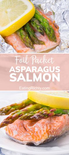 If you haven't tried baking salmon in a foil packet, you've been missing out on one of the easiest ways to get flavorful baked salmon that's NEVER dry. This recipe bakes salmon, asparagus and lemon together for a complete meal in a packet. Plus it's 0 WW points! #salmonrecipes #dinnerrecipes #seafood #fishrecipes #healthyrecipes #ketorecipes #lowcarbrecipes #healthydinners #healthy #wwrecipes #ww #weightwatchers #foilpackets #bakedsalmon