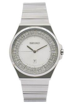 Seiko  Women's Stainless Steel White Dial