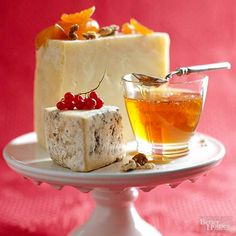 Full-flavor cheeses such as cheddar and Stilton taste best at room temperature. When serving cheese as part of a dessert buffet, allow 1 ounce of cheese per serving.