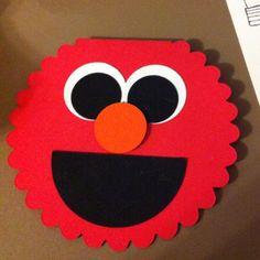 Elmo birthday card for Elmo arts and crafts