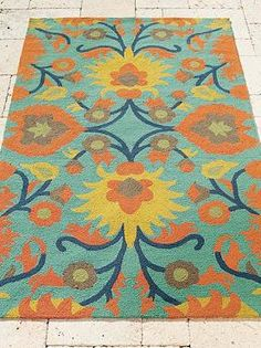 Bursting with colorful character, the Abigail Outdoor Rug enlivens your outdoor space while offers a maintenance-free decor solution.