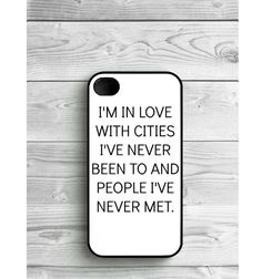 Phone Case Quote Tumblr For iPhone 4/4S iPhone 5/5S by LENKALIKE