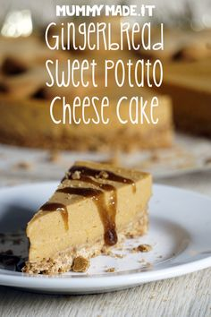 This Gingerbread Sweet Potato Cheese Cake is Gluten Free, Dairy Free, Refined Sugar Free, Paleo friendly, Nut Free, Egg Free and super tasty.
