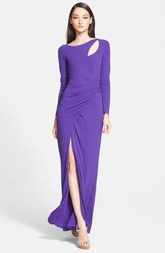 Escada Side Wrap Jersey Dress