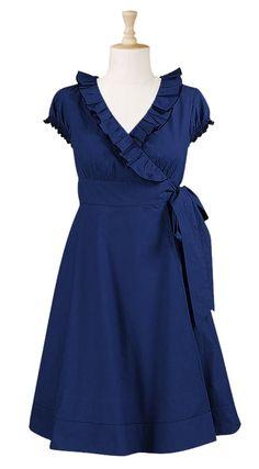 DIY INSPIRATION - Ruffle neck wrap dress $54.95