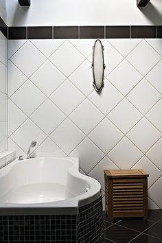 Banheiro: Revestimento em Diagonal