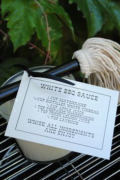 White BBQ Sauce,what a great summer hostess gift. Bring one with you when invited to a BBQ