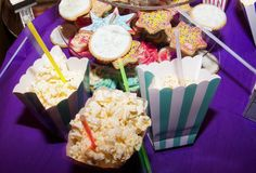 Disco Party Food Popcorn Cupcakes