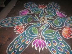 peacock kolam by Parameswari.V, via Flickr