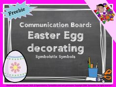 A fun arts & crafts activity for Easter. Print and laminate the communication board, gather all your leftover arts and crafts supplies, and start decorating! Fun Arts And Crafts, Arts And Crafts Supplies, Speech Therapy Activities, Craft Activities, Egg Decorating, Therapy Ideas, Speech And Language, Teacher Newsletter, Easter Eggs