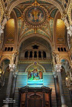 The Basilica Notre-Dame de Fourvière Lyon, France