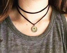 Double Wrap Leather Choker / Bolo Tie Double by ShopIndividJewels