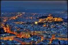 Lykavitos view, Athens