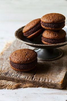 Whoopies de café y chocolate