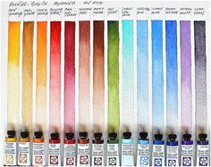 Thomas W Schaller's palette - Daniel Smith Paints