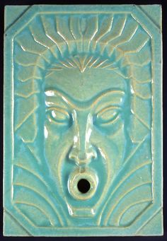 Tile: North Wind, Wheeler Williams (Designer), American Encaustic Tiling (Maker), circa 1933.