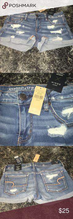 American Eagle  NWT Jean Denim Shorts Awesome shorts NWT size 10 super low shortie American Eagle Outfitters Shorts Jean Shorts