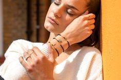 Shop beaded hand bracelet Gold Plated Bracelets, Gold Plated Necklace, Crystal Necklace, Sterling Silver Necklaces, Hand Bracelet, Evil Eye Bracelet, Rubber Bracelets, Handmade Bracelets, Bridesmaid Bracelet