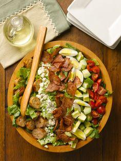 al fresco Chicken Bacon Cobb Salad with Sundried Tomato Chicken Sausage
