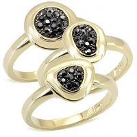 Jessica-If you've been wondering how to subtly mix both strong and sultry into your look at once, wonder no more. These 14k gold stackable rings with jet hematite crystal stones are the perfect way to mix trends without breaking a sweat.  $58 www.jillzarinjewelry.com