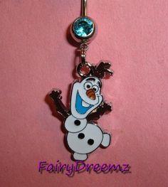 Disney FROZEN Dancing OLAF Belly Ring in Body Piercing Jewelry   eBay