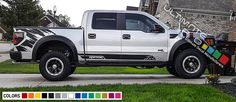 Decal Sticker Full Set Stripes kit for Ford F150 Raptor SVT graphics 2010 - 2018 #ultimateprocy1