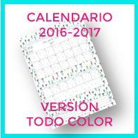 Calendario 2016-2017 en versión para imprimir a todo color.